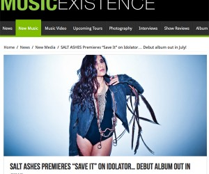 Music Existence Features Salt Ashes' 'Save It'
