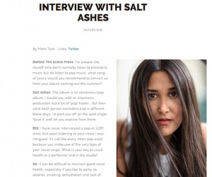 Behind The Scene's Exclusive Interview With Emerging Artist Salt Ashes