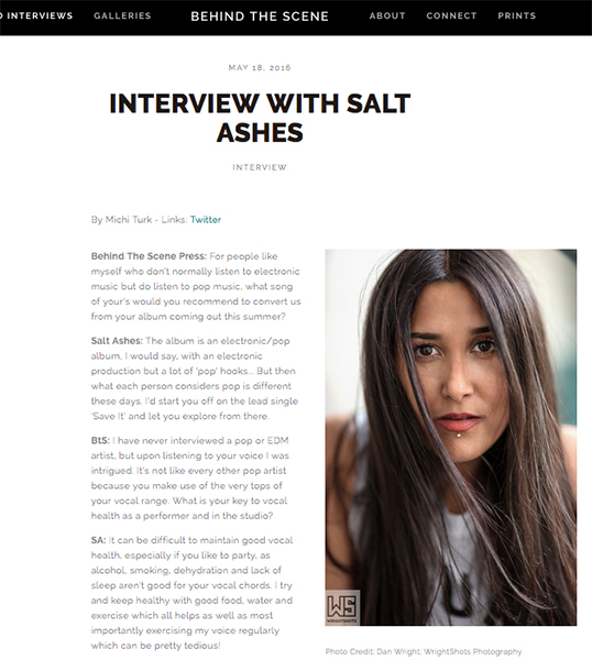 salt ashes - behind the scene