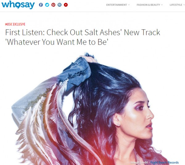 whosay premiere salt ashes whatever you want me to be radikal records debut album save it bbc introducing