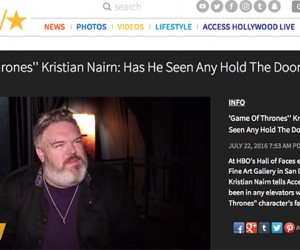 Access Hollywood Interviews Kristian Nairn