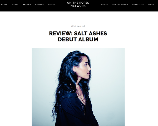 salt ashes - off the record