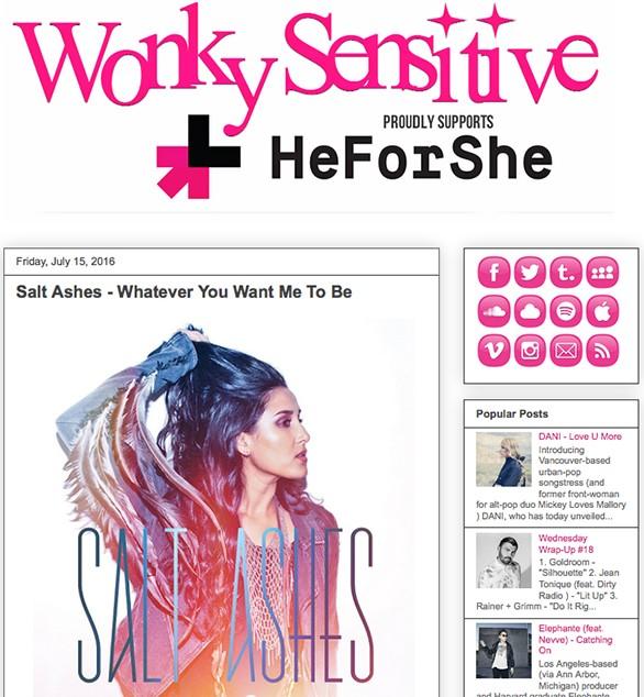 wonky sensitive - sa album