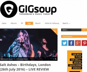 GIGSoup Reviews Salt Ashes Performance at Her Album Launch Party