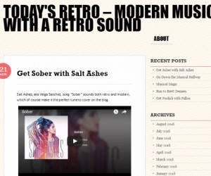 "Salt Ashes' ""Sober"" Featured on Music Blog Today's Retro"