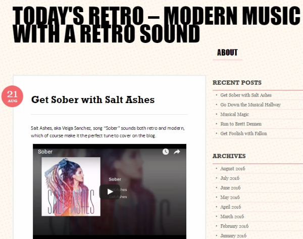 Todays Retro - Salt Ashes