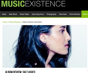 Music Existence Reviews Salt Ashes Debut Album