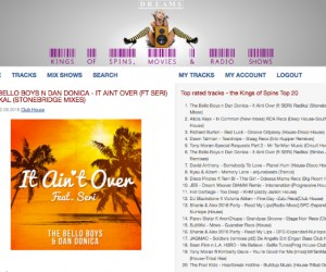 "StoneBridge & Damien Hall's Remix of ""It Ain't Over (feat. Seri)"" Featured on Kings of Spins"