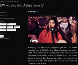 "Salt Ashes' ""Save It"" Music Video Featured on The Aussie Word"