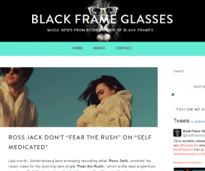"Black Frame Glasses Features Ross Jack's ""Fear the Rush"""
