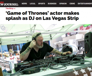 Las Vegas Review Journal Features Kristian Nairn DJ Set from The Linq Hotel