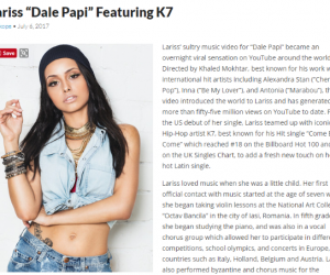 "Skope Mag Features Lariss' Hot Music Video for ""Dale Papi (Feat. K7)"""