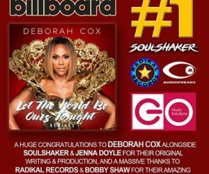 "Deborah Cox's ""Let the World Be Ours Tonight"" Tops Billboard's Dance Club Chart"