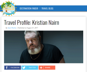 Kristian Nairn's Travel Profile on SunCity Paradise