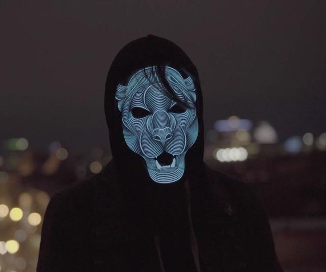 sound reactive led masks edm concerts music producers djs festivals