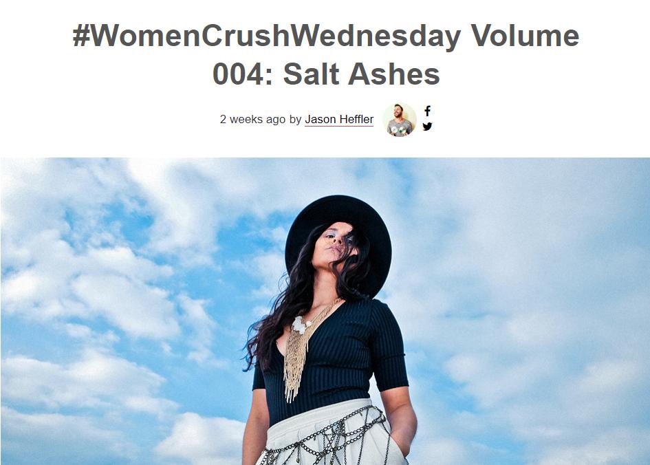 earmilk salt ashes girls woman crush wednesday new single radikal records dance pop electronic