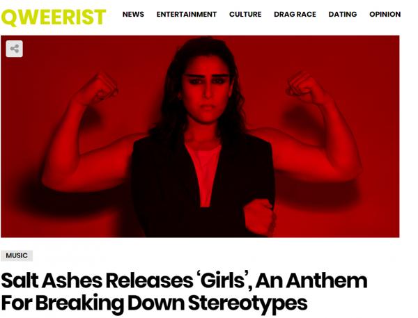 qweerist salt ashes girls new single radikal records dance pop electronic singer-songwriter