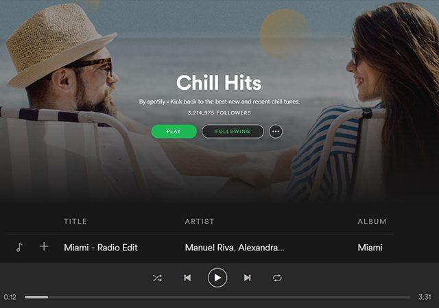 Manuel Riva on Spotify Chill Hits