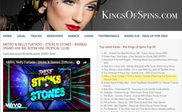sticks and stones featured on kings of spins