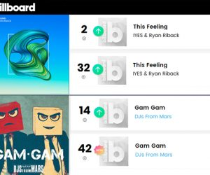 """This Feeling"" & ""Gam Gam"" Hit New Peaks on Billboard's Dance Club & Hot Dance/Electronic Charts"