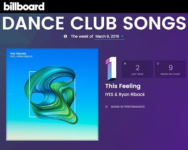 "IYES & Ryan Riback ""This Feeling"" #1 Billboard Dance Club Chart"