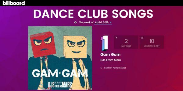 "#1 on Billboard Dance - DJs From Mars ""Gam Gam"""