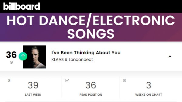 Klaas & Londonbeat - Billboard Hot Dance/Electronic #36