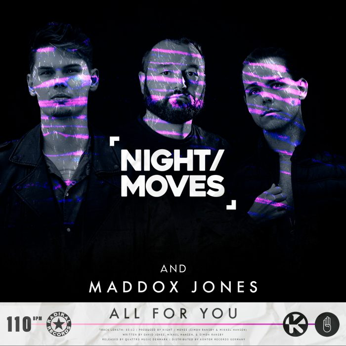 NIGHT MOVES & Maddox Jones - All For You - Cover Art