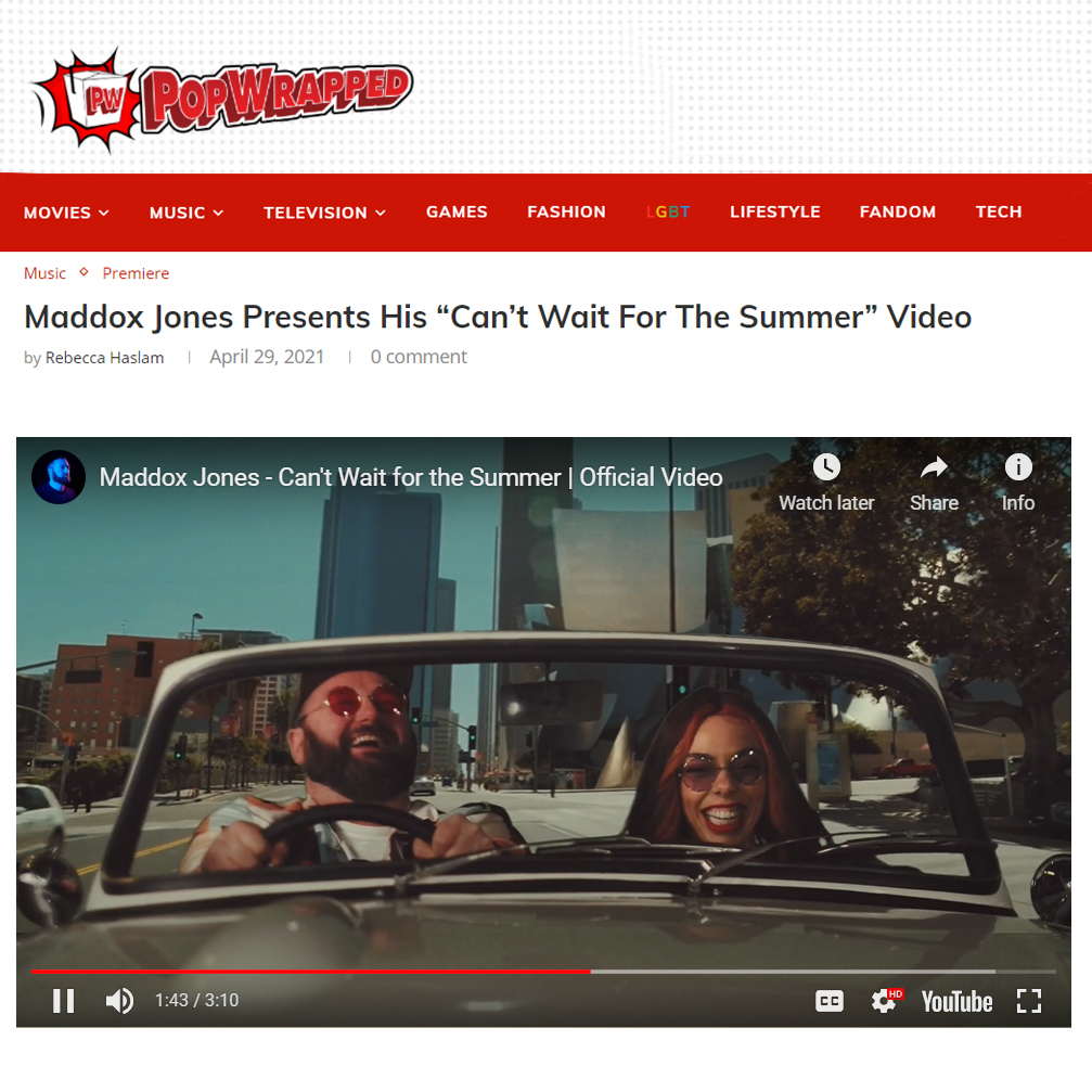 PopWrapped - Maddox Jones - Can't Wait for the Summer 2