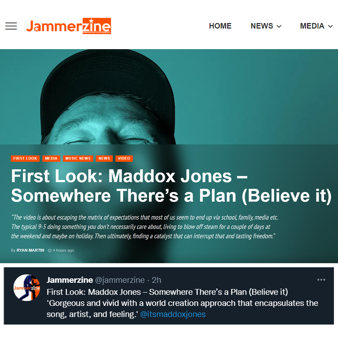 Maddox Jones - Somewhere There's a Plan (Believe It) - Music Video Premiere