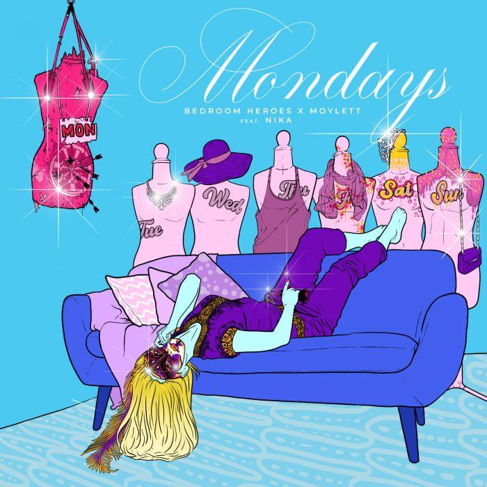 Bedroom Heroes x MOYLETT - Mondays (feat. Nika) - Cover Art